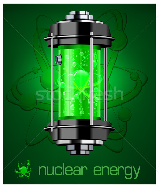 Nucleare energia testo contenitore verde colore Foto d'archivio © creatOR76