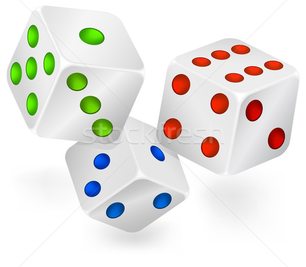 Three dices for dribbling Stock photo © creatOR76