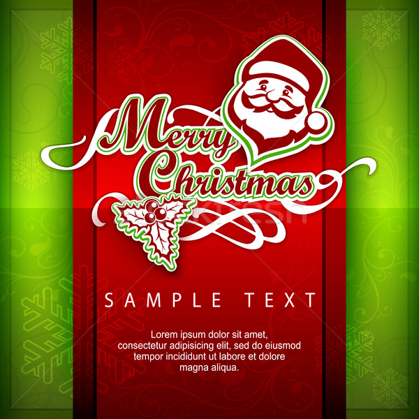 Mary Christmas poster & text Stock photo © creatOR76