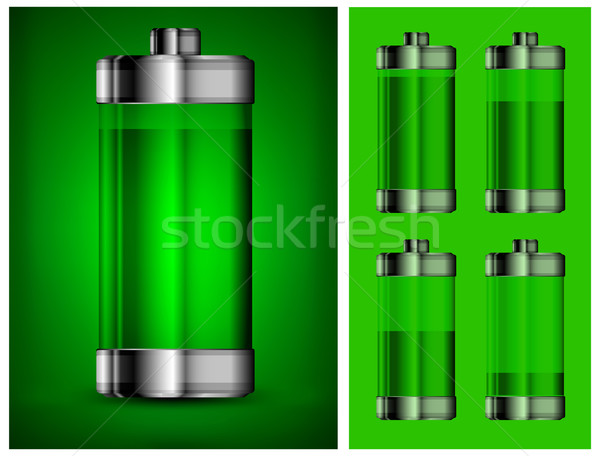 Energy battery in green Stock photo © creatOR76