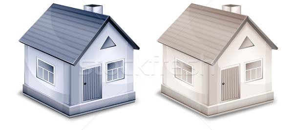 два небольшой деревне домах Windows дверей Сток-фото © creatOR76