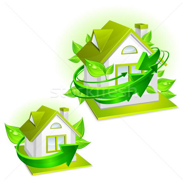 среде экология защиту модель дома зеленый Сток-фото © creatOR76