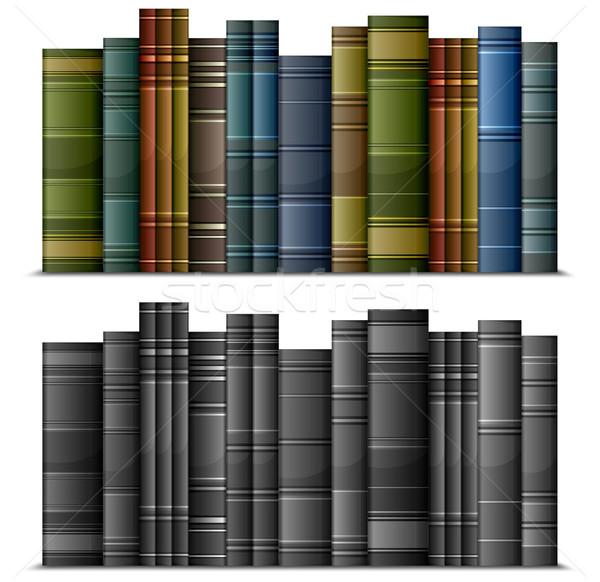 Kitaplar eski bağbozumu yalıtılmış beyaz Stok fotoğraf © creatOR76