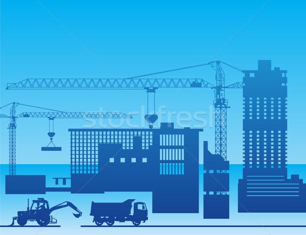 Construction of a factory Stock photo © creatOR76