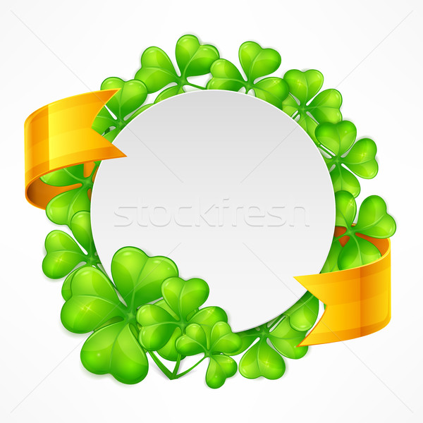 St. Patrick's Day round tamplate Stock photo © creatOR76