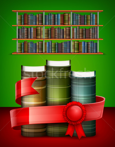 Stack of books on color Stock photo © creatOR76