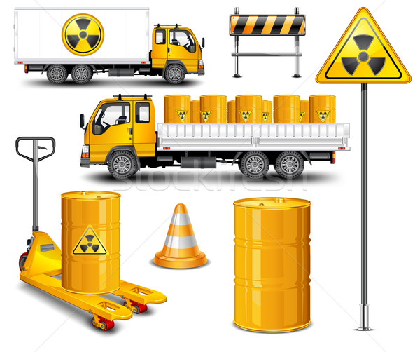 Stock photo: Transport with radioactive waste