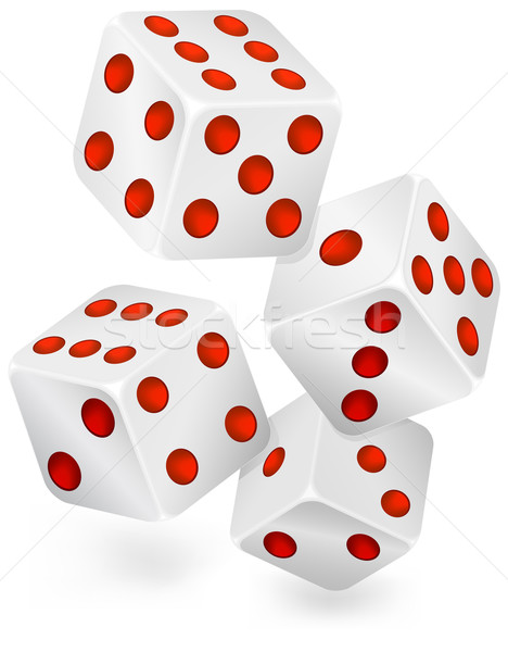Four dices for dribbling Stock photo © creatOR76