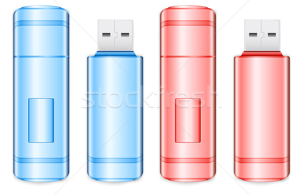 Color flash drive Stock photo © creatOR76