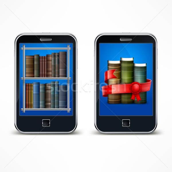 Elektronikus olvasó digitális berendezés olvas fehér Stock fotó © creatOR76