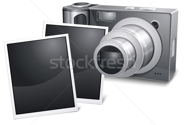 Photo camera with sliding Stock photo © creatOR76