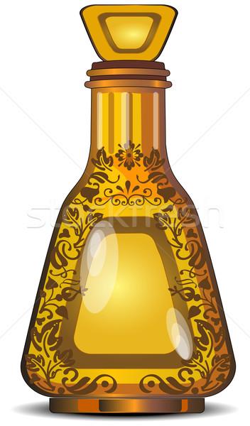 Garrafa garrafas decorativo vidro perfumaria comida Foto stock © creatOR76