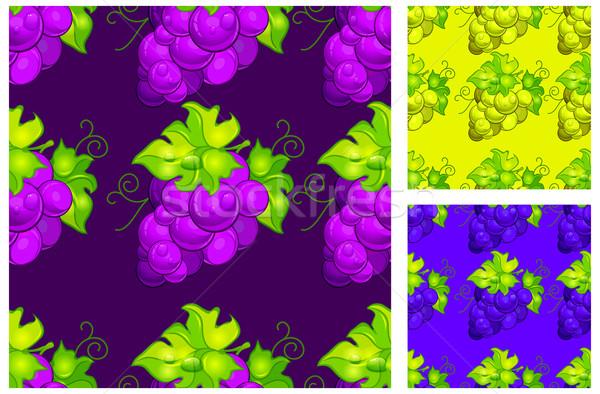 Stok fotoğraf: üzüm · yeşil · yaprakları · beyaz · şarap