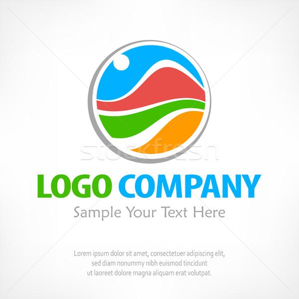 путешествия логотип цвета символ стилизованный пейзаж Сток-фото © creatOR76
