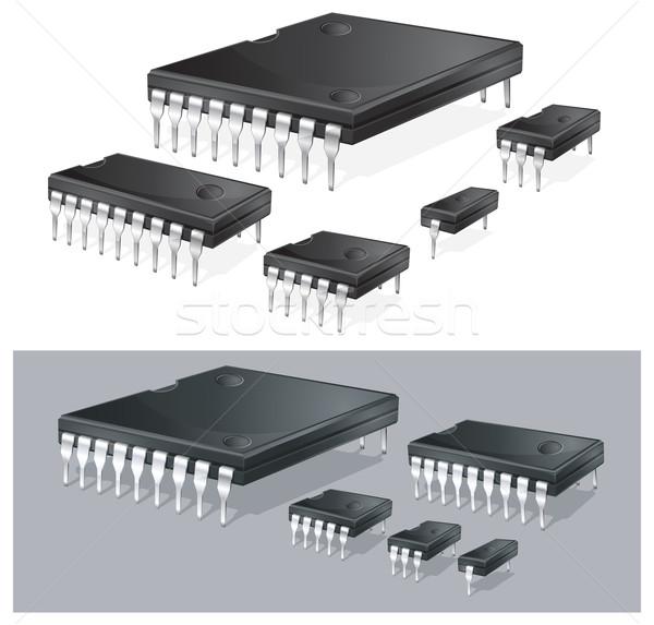 Computer chips  Stock photo © creatOR76