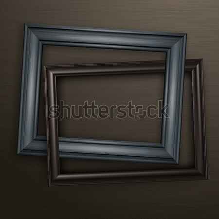 Two wooden black frames Stock photo © creatOR76