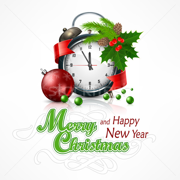 New Year click on white Stock photo © creatOR76