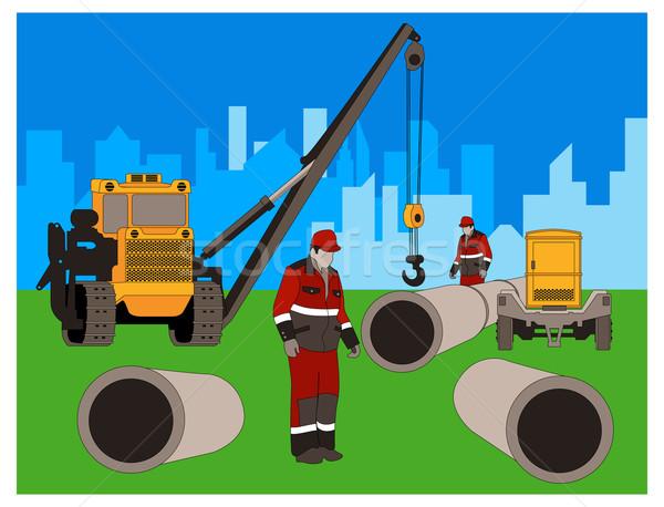 Construction of new area.  Stock photo © creatOR76