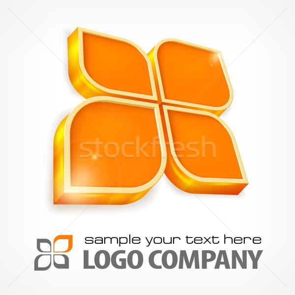 Testo arancione colore bianco pulsante Foto d'archivio © creatOR76