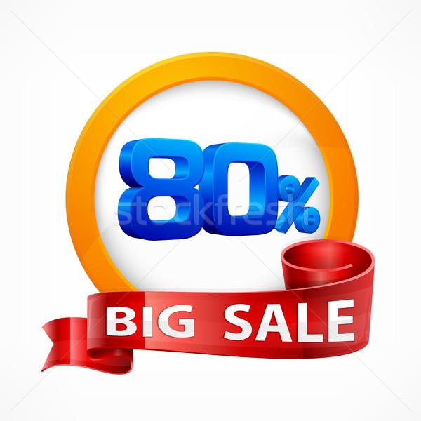 Big sale inscription label Stock photo © creatOR76