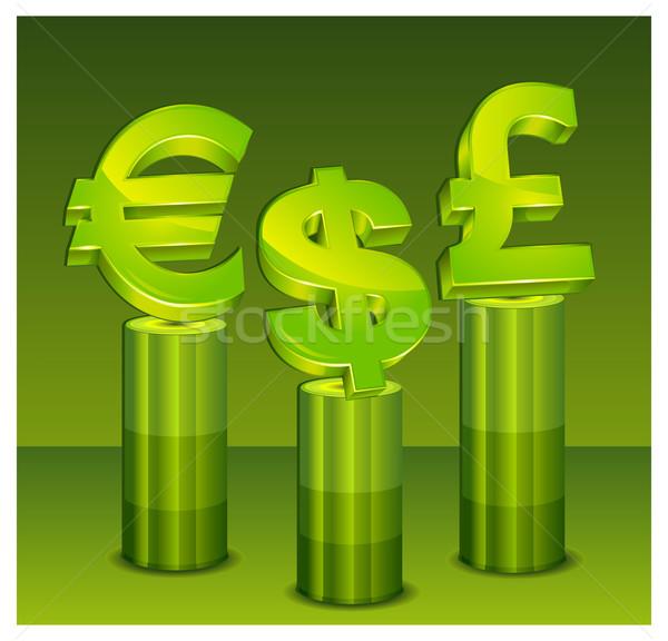 Green money pedestal Stock photo © creatOR76