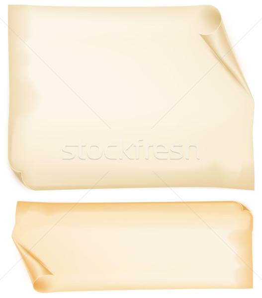 Vieux papiers papier ondulé jaune papier texture Photo stock © creatOR76