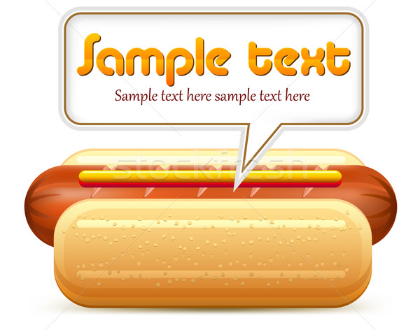 Hotdog stylized & text Stock photo © creatOR76