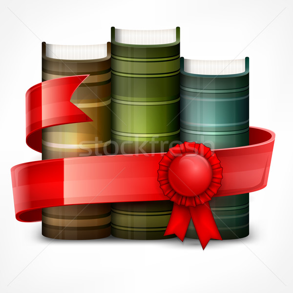 Stack of books with ribbon Stock photo © creatOR76