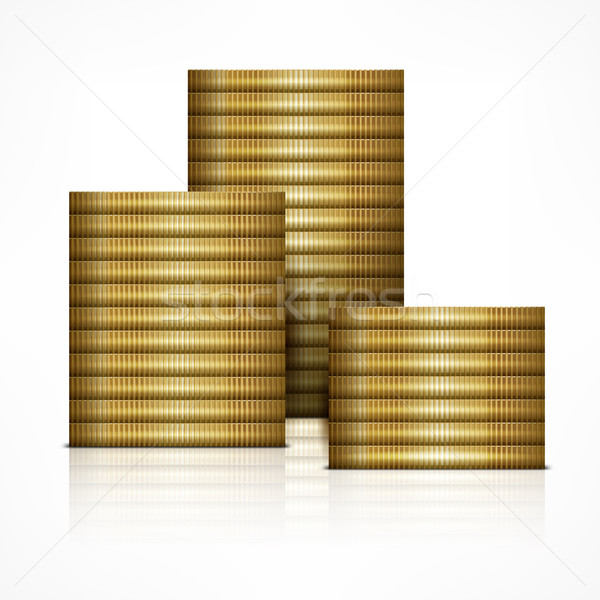 Stacks of coin Stock photo © creatOR76