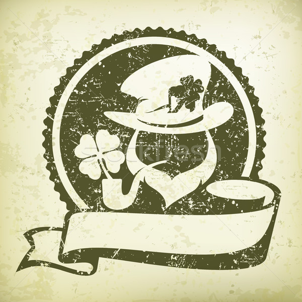 Leprechaun circle logo grange Stock photo © creatOR76