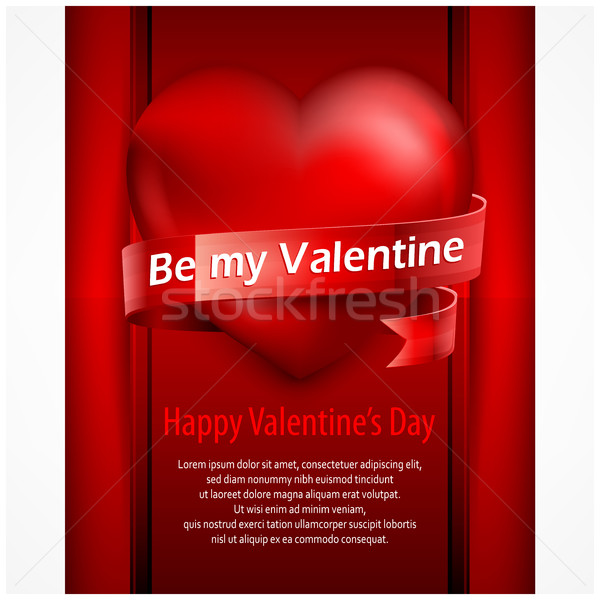 Valentine's Day heart placard  Stock photo © creatOR76