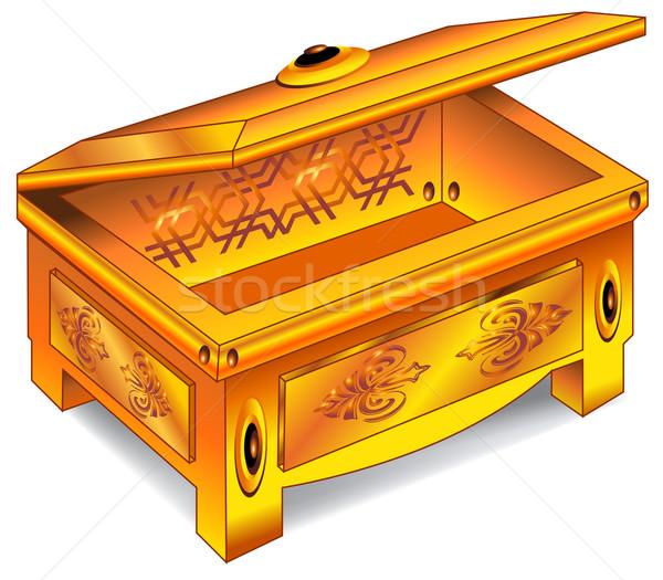 Gold antique chest Stock photo © creatOR76