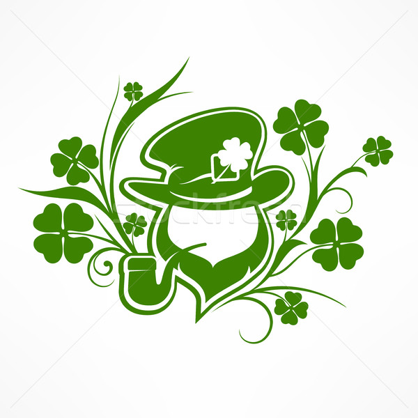 Leprechaun lucky symbols on white Stock photo © creatOR76