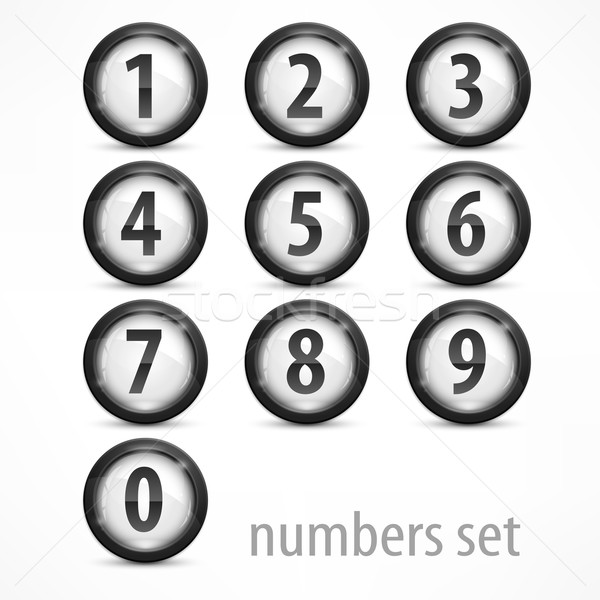 Set of numbers on white Stock photo © creatOR76