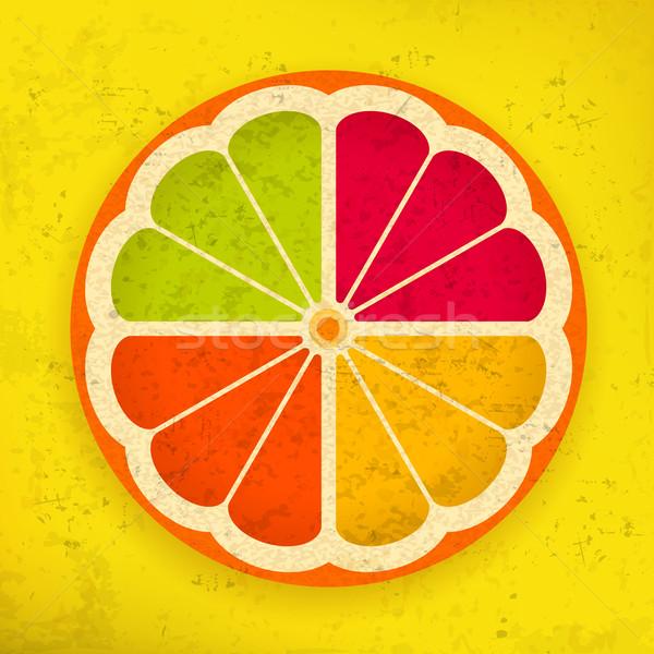 Narenciye dilimleri dizayn arka plan limon yeme Stok fotoğraf © creatOR76