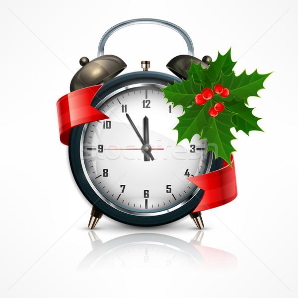 New Year clock on white Stock photo © creatOR76