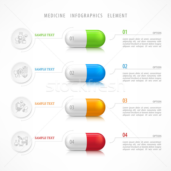Medical pill template icons Stock photo © creatOR76