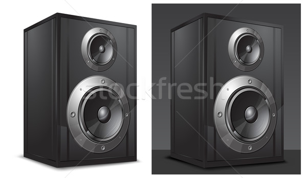 Acoustic system in black Stock photo © creatOR76