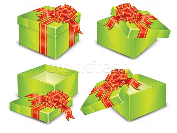 Green boxes Stock photo © creatOR76