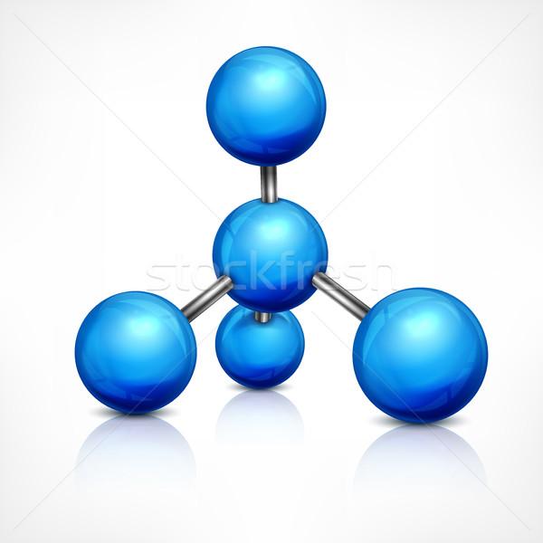 Molecule in blue on white Stock photo © creatOR76