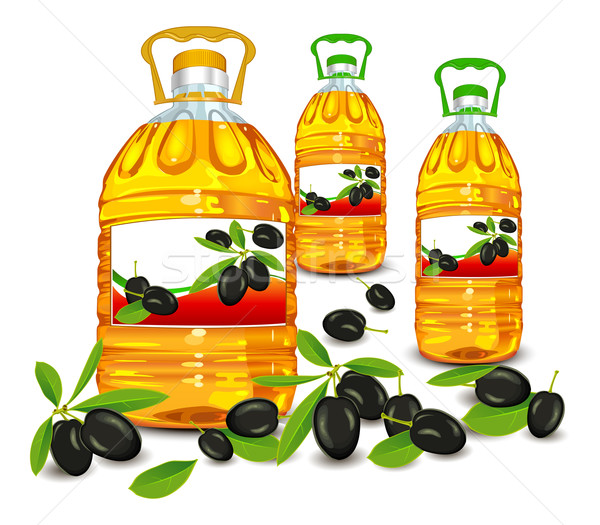 Bottle and olive  Stock photo © creatOR76