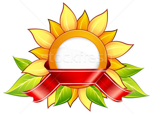 Ayçiçeği şerit etiket dizayn güneş Stok fotoğraf © creatOR76