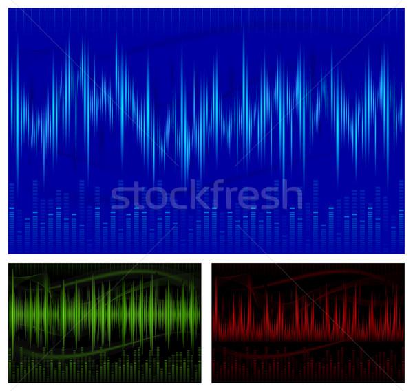 Ecualizador pantalla gráfico sonido olas música Foto stock © creatOR76