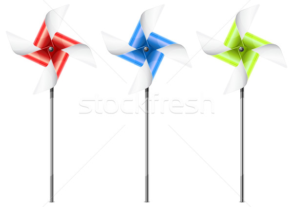 Drie kleur speelgoed witte groene macht Stockfoto © creatOR76