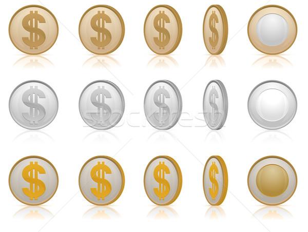 Dollar coins Stock photo © creatOR76