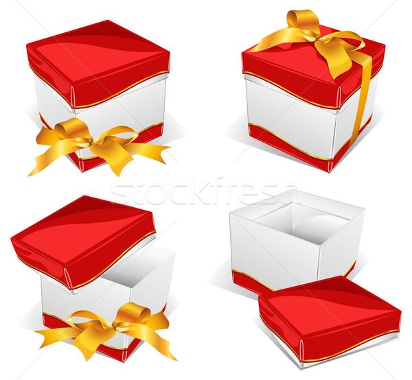 Instruction on box opening Stock photo © creatOR76