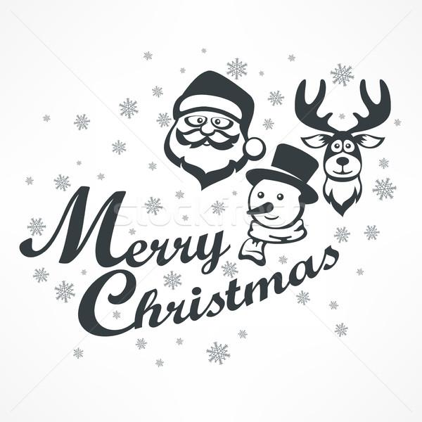 Рождества плакат белый Новый год дизайна Элементы Сток-фото © creatOR76