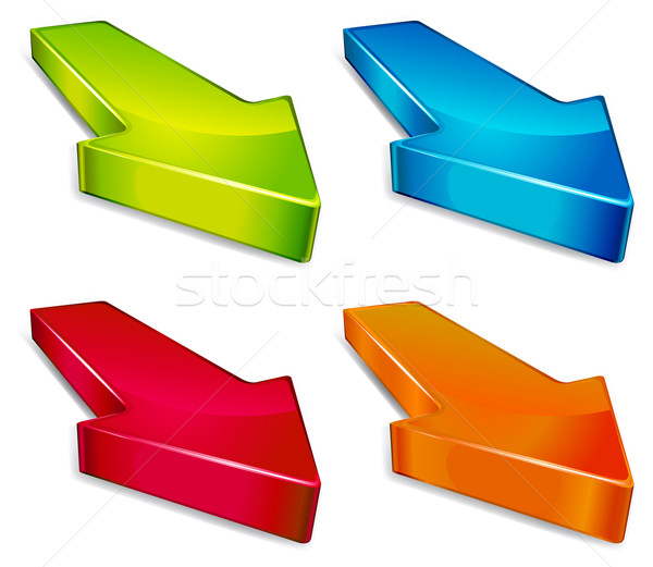 Frecce piccolo indicazioni business blu Foto d'archivio © creatOR76