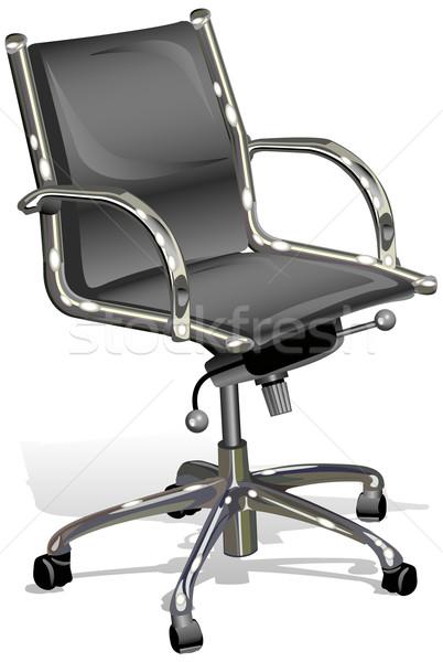Nero pelle capo boss bianco illustrazione Foto d'archivio © creatOR76