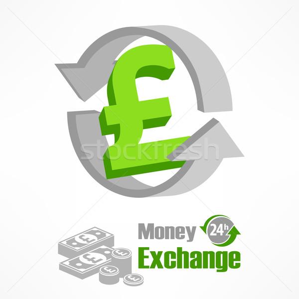 Pound symbol in green Stock photo © creatOR76